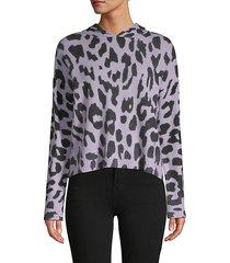 cashmere cheetah hoodie