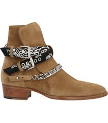 amiri bandana buckle shoes