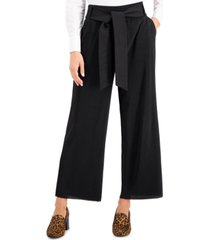 alfani petite tie-waist wide-leg pants, created for macy's