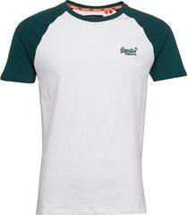ol baseball tee t-shirts short-sleeved vit superdry