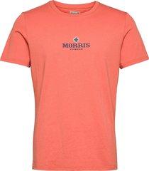 helton tee t-shirts short-sleeved orange morris