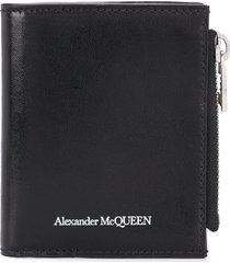 alexander mcqueen logo-print wallet - black