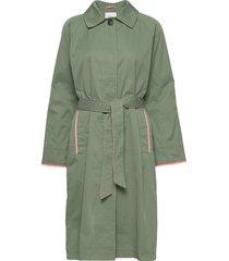 coats woven trenchcoat lange jas groen edc by esprit