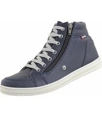 sapatênis casual cano curto cr shoes azul