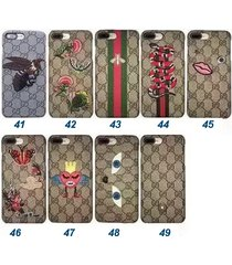luxury 2017 embroidery gu fashion style case for apple iphone7 iphone8 plus
