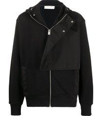 1017 alyx 9sm flap overlay zip hoodie - black