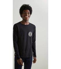 camiseta estampada mundo reserva preto - preto - masculino - dafiti