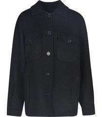 parosh fringe applique worker jacket