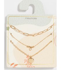maurices womens dainty gold 3 piece necklace set