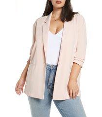 women's leith boyfriend blazer, size xx-small - pink