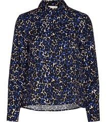 mila blouse blus långärmad blå storm & marie