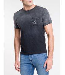 camiseta ckj mc bolso frontal com est ck - chumbo - pp
