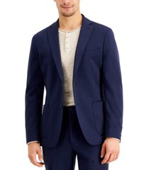 calvin klein men's slim-fit stretch navy blue suit jacket