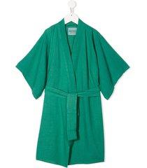 bobo choses belted printed kimono - green