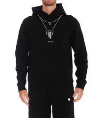 marcelo burlon feathers necklace hoodie