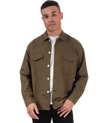 mens military style pure cotton shirt