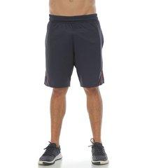 pantaloneta deportiva con vivo contraste, color gris oscuro para hombre