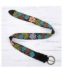 wool belt, 'daisy parade' (peru)