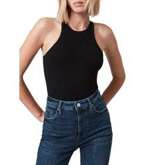 women's allsaints jamie tank bodysuit, size 0 us - black