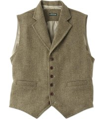 casual wool vest, tan multi, xl