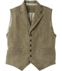 casual wool vest, tan multi, xl