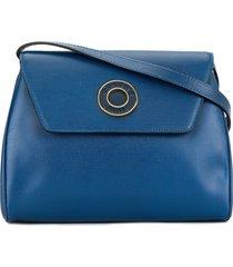 céline pre-owned logo ring crossbody bag - blue