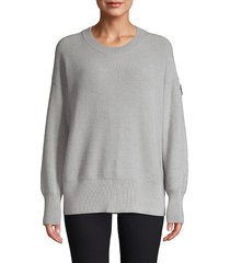canada goose women's aleza merino wool sweater - black - size m
