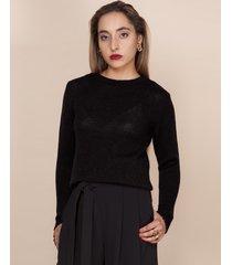 sweter klasyczny gładki czarny