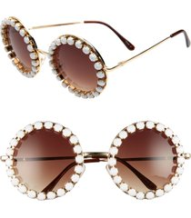 women's rad + refined rhinestone round sunglasses -