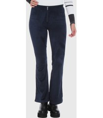 pantalón wados flare azul - calce ajustado