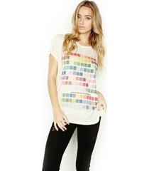 briley colors s/s tee w/ open back - xs natural
