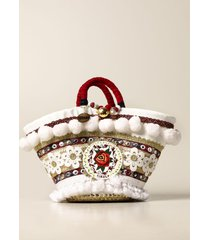 sikuly shoulder bag rusina sikuly coffa bag in lace and leather with maxi pompom and emblem