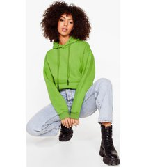 womens we're on track pullover hoodie - green