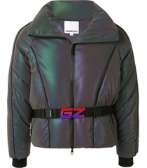 ground zero belted padded jacket - purple