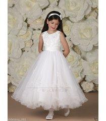 applique party princess pageant bridesmaid wedding communion flower girl dresses