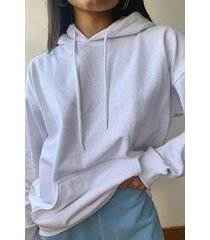 recycled oversized hoodie, white