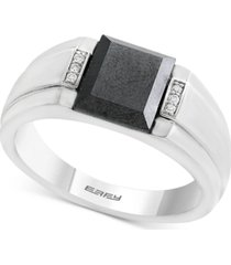 effy men's hematite (9 x 7mm) & diamond accent ring in sterling silver