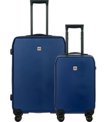 bric's menaggio 2-piece spinner suitcase set - blue