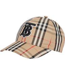 women's burberry logo icon stripe baseball cap -