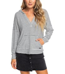roxy juniors' sweet thing striped hoodie