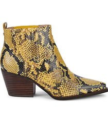 winona snake-print leather booties