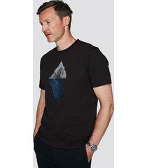 t-shirt i bomull med tryck - svart