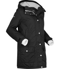 parka outdoor con ecopelliccia (nero) - bpc bonprix collection