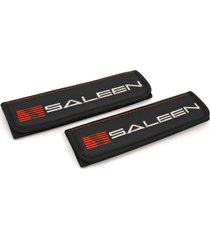 saleen dark horse seat belt covers leather shoulder pads with emblem