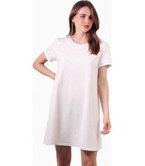 vestido bianca de algodón manga corta blanco jacinta tienda