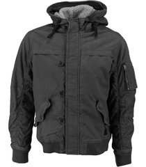 jack & jones grijze bomber winterjas met warme teddy voering