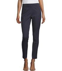 elie tahari women's juliette ankle trousers - navy yard - size 16