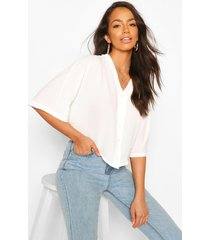 oversized button detail blouse, ivory