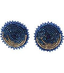 topo esfera tejido a mano azul bijulovers
