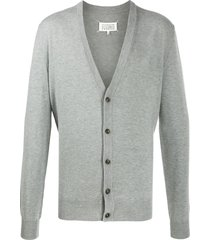 maison margiela elbow patches cardigan - grey
